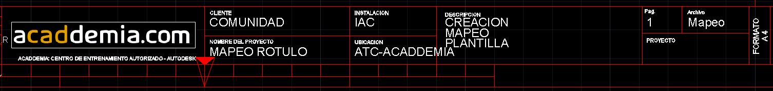 autocad electrical - bloque de titulos con informacion del proyecto