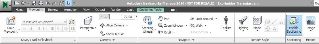 1 modelo en Autodesk Navisworks