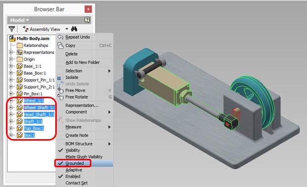 creacion de multi-cuerpos con autodesk inventor 10