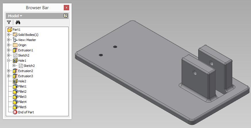 creacion de multi-cuerpos con autodesk inventor 2