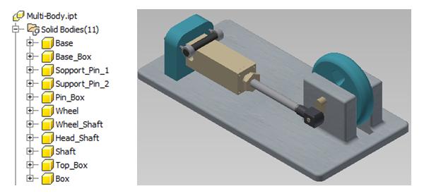 creacion de multi-cuerpos con autodesk inventor 6