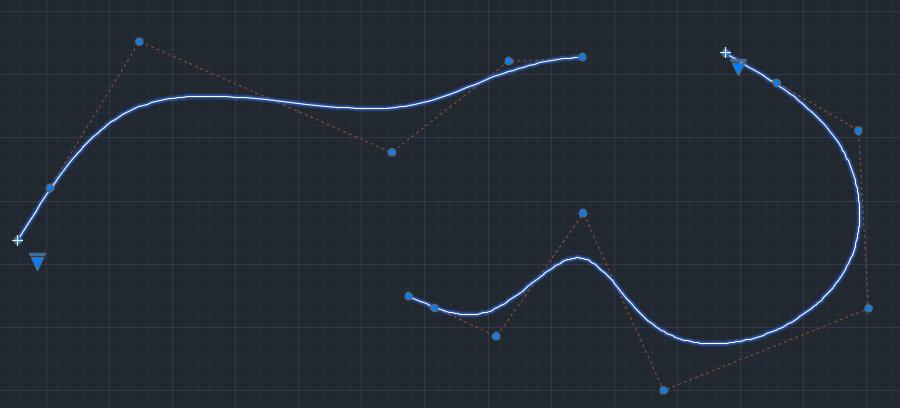 Splines tangentes en AutoCAD 2