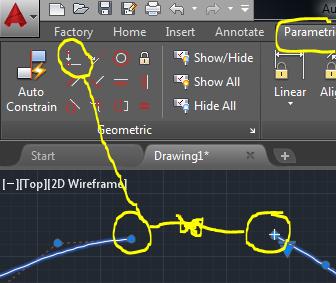 Splines tangentes en AutoCAD 3