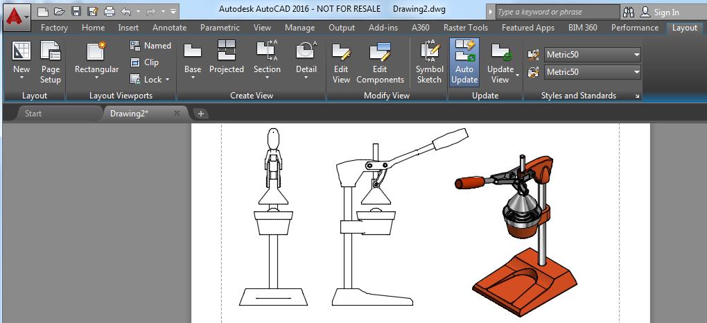 modelos 3D importados en AutoCAD 2016 a