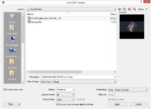Manejo de archivos cad en revit for Archivos de cad